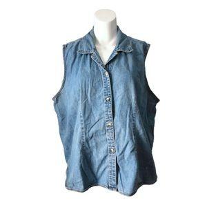 Vintage sleeveless denim top